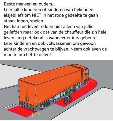 Dode Hoek bij vrachtwagens