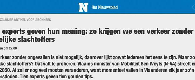 Het  Nieuwsblad vandaag : kan het verkeer zonder doden?