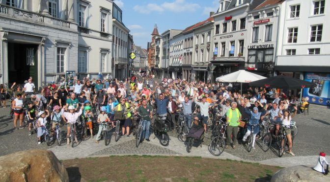 Eerste Kidical Mass Ride Aalst – samen met Critical Mass Aalst