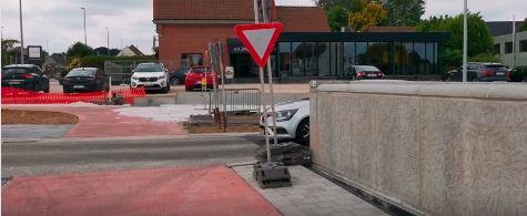 KNELPUNT: rondpunt Siesegem