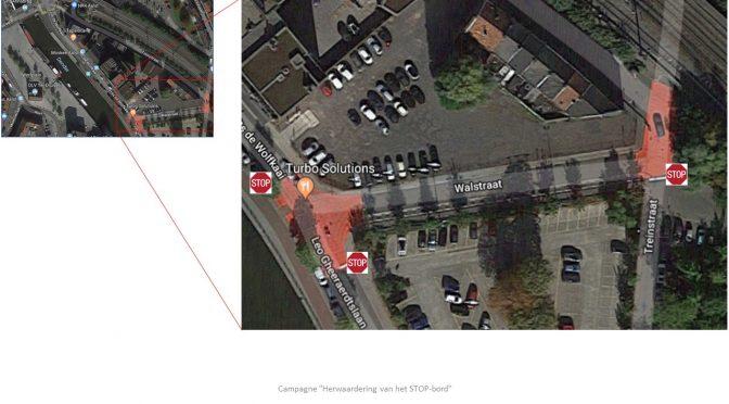 Knelpunt: Fietsersoversteekplaats Walstraat, Aalst